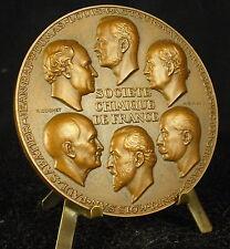Médaille chemist Pasteur Berthelot Grignard Moissan Sabatier c Cochet Medal 铜牌