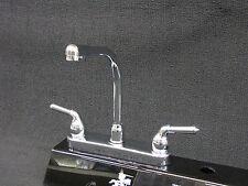 RV Mobile Home Parts Kitchen Sink faucet Hi-Rise Spout Tea Pot Handles Chrome