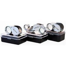 New 3pc Jewelers Eye Loupes Set 10x & 30x + Dual Magnifier Loupe