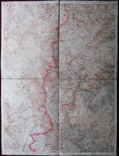 Original Military Topographic Detailed Map West Macedonia Debar Дебар WWI