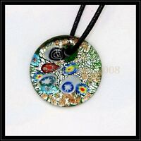 2016 New square lampwork Murano art glass beaded pendant necklace BB202