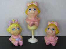Vintage Miss Piggy Muppet Babies Lot Hasbro Playskool Squeaky Rubber