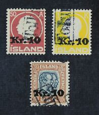 CKStamps: Iceland Stamps Collection Scott#140 141 143 Used