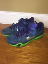 Kobe 10 Low 705317-402 Green Royal Blue Size 10 Basketball Sneakers  Kd