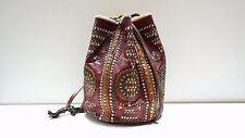 CHIMAYO Grabbel Bag Beutel Tasche 40er True Vintage 50´s Rockabilly Leder Bag