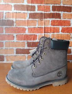 New Womens Premium 6 In Waterproof Timberland Boot medium Grey Nubuck size 10
