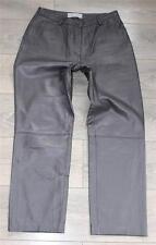 Vintage en cuir marron HELLINE Straight Femme Pantalon Pantalon Jeans Taille W31 L28