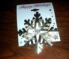 "Brand New Holiday Holidays Gold-tone Size - 3"" X 3"" Pin Free Shipping!"