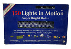 Vintage Christmas 150 Lights In Motion String Bright Blue Steady Twinkle Chasing
