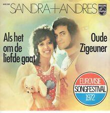 7inch SANDRA & ANDRES als het om de liefde gaatHOLLAND 1972 EX+ EUROVIS (S1747)