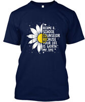 I Be Came A School Counselor Because You Hanes Tagless Tee T-Shirt