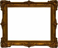 American 19th Century Louis XV 8 Shell Victorian Gold Leaf Gesso Picture Frame (