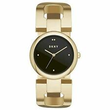 DKNY NY2770 Womens Eastside Gold Tone Black Dial Bracelet Watch