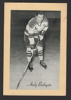 1944-63 Beehive Group II New York Rangers Photos #297B Andy Bathgate/Away