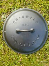 Antique Griswold #9 Cast Iron Dutch Oven Lid - Cleaned + Seasoned!