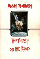 IRON MAIDEN 1982 THE BEAST ON THE ROAD WORLD TOUR CONCERT PROGRAM BOOK / VG 2 EX