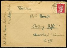 WWII  II ERA GERMANY CHANCELLOR FRANKED 12 pfg COVER CANCELED LANDSBERRY  1942
