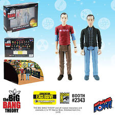 The Big Bang Theory Sheldon and Stuart 3 3/4-Inch Action Figures Set of 2