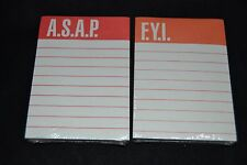 Lot of 2 Vintage Stickey Notes STICK ON NOTES Dennison F.Y.I & A.S.A.P. NOS