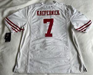 NWT NIKE COLIN KARPERNICK #7 GAME DAY SAN FRANCISCO 49ERS WHITE JERSEY SZ XLARGE