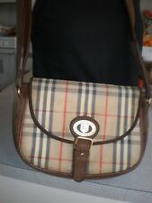 Vintage RARE BURBERRY  Burberrys Nova Check Saddle Bag Shoulder Bag CROSSBODY