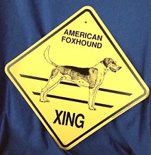 American Fox Hound Xing Dog Sign