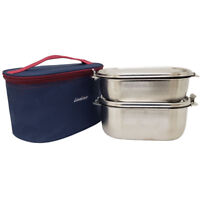 Bento Lunch Box Food Container Storage Set, Leak Proof Stainless Steel for Kids