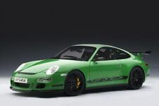 AUTOART PORSCHE 997 GT3 RS GREEN WITH BLACK STRIPE 1:12*Back in Stock*LARGE CAR