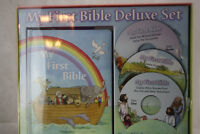 My First Bible Deluxe Set Child's Bible Stories and 3 CD Set Read Along CD