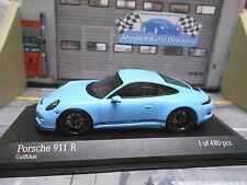 Porsche 911 991 R 2016 Coupé Bleu Blue Gulf black minichamps limited 1:43