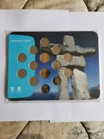 """2007-2010 Vancouver Olympic """" Inukshuk """" collector card coin set. 14 Coins!"""