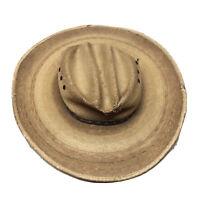 "Resistol Jason Aldean Size7/22""Straw Cowboy Hat With Leather Strap Damaged VTG"