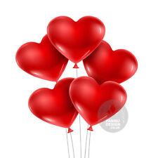 12.7cm rot herzförmig Luftballons für Valentinstag Geburtstag Hochzeit Jubiläum