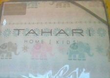 Tahari Home Kids Full Size Sheet Set Elephant Floral Pastel 100% Cotton Nip
