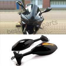 INTEGRATED LED FRONT TURN SIGNAL INDICATORS LIGHTS MIRRORS MOTORCYCLE STREETBIKE