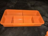 Vintage TUPPERWARE Stow-N-Go ORGANIZER Replacement Tray Only 6 Sections