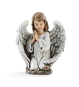Kneeling Praying Angel Girl Garden Statue Outdoor Figurine