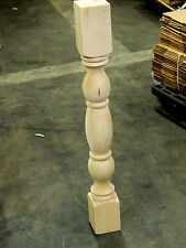 Traditional Style Maple Wood Turning Maple Post