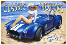 LOVE AT FIRST SIGHT GREG HILDEBRANDT GIANT VINTAGE METAL SIGN PINUP FREE PRINT