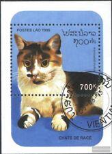 Laos Block 154 (completa.Problema.) usato 1995 Gatti di razza
