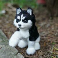 Realistic Husky Dog Simulation Toy Dog Puppy Lifelike Stuffed Toy H9M8