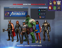 Marvel's Avengers: Legacy Outfit Pack DLC+Nameplate - [STEAM/PS4/XBOX]