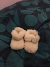 Beautiful Just Sheepskin baby booties age 0-6 months natural colour