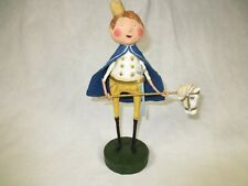 "Lori Mitchell figurine Prince with Pony Horse stick w sword crown 8"" collectible"