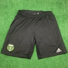 ADIDAS PORTLAND TIMBERS BLACK TEAM CREST TRAINING SHORTS - SIZE XL MISSING DRAWS