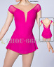 Competition Figure Skating Dress Girls deep v Custom Spandex Training pink