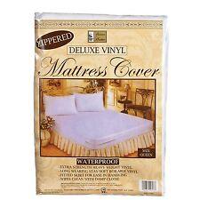 QUEEN SIZE VINYL ZIPPERED MATTRESS COVER WATERPROOF ALLERGY & BED BUG PROTECTOR