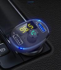 Handsfree Wireless Bluetooth Car Kit FM Transmitter Radio MP3 Player QC 3.0 2019