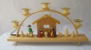 Christmas Schwibbogen Arch THE NATIVITY Wood Glaesser Seiffen Erzgebirge Germany
