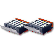 10 Druckpatronen für CANON Pixma IP7250 MG5450 MG6350 MX725 MX925 PGI550 CLI551